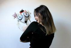 Pulzella Pierrot con collo in tulle e orecchini di di AntonellaPal