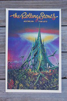The Rolling Stones Tour Poster 1973 Austalia Tour