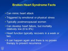 Broken heart syndrome facts She Broke My Heart, Broken Heart Syndrome, Heart Function, Feeling Broken, Learn Something New Everyday, Physical Stress, Counseling Psychology, Chf, Cardiology