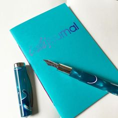 "It may be Monday but a little color can brighten up any day of the week. What's your ""go to"" helper to cure a #caseofthemondays ? #fountainpen #fountainpennetwork #inkjournal #notebook #omas #omaspen #aqua #turquoise #tomoeriver #tomoeriverpaper"