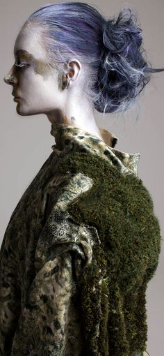 Be haunted by forest mythology and geisha refinement in Beverley Perrott's latest collection – Creative HEAD Magazine Figure Photography, Editorial Photography, Art Photography, Geisha Hair, Wood Nymphs, Short Curly Wigs, London College Of Fashion, Portraits, Thrift Fashion