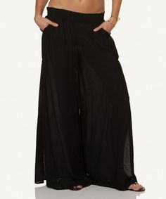 Another great find on #zulily! Black Bali Palazzo Pants #zulilyfinds