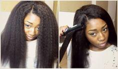 Realistic Looking Hair! (Dream Tresses Mongolian Kinky Straight)