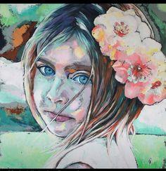 Innocence Olieverf op linnen 80 x 80 cm