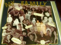 Scrapbook page - My Family