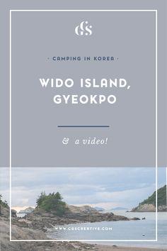 Camping in korea wido island
