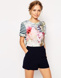 Image 1 of Ted Baker Romper in Pure Peony Print
