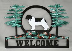 Hand Painted Landseer Welcome Sign