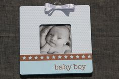 Baby boy Picture Frame Newborn frame baby shower gift by SouthernA