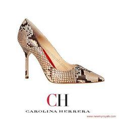 CAROLINA HERRERA Python Pumps