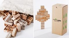 wooden lego bricks by mockulock