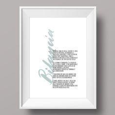 Se siete invitati a un compleanno tra oggi e il 22 ottobre, questa idea regalo fa al caso vostro :) // Segno zodiacale: bilancia! // #poster #idee #casa #regalo #zodiaco #oroscopo #calligrafia #lettering #brushcalligraphy #home