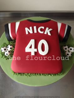 Homemade cakes for all occassions. Based in Maidstone I can provide bespoke wedding cakes, cup cakes, celebration cakes and cake pops for Kent and the Southeast Football Birthday Cake, 9th Birthday Cake, Football Themed Cakes, Shirt Cake, Pear Cake, Zucchini Cake, Salty Cake, Red Fruit, Arsenal Football