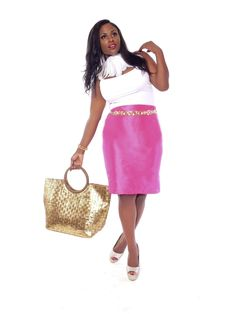 Love this.   Shop Solace Collection - Bailey Magenta Pencil Skirt