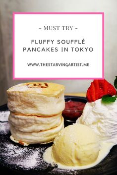 to find fluffy souffle pancakes in Harajuku, Tokyo When traveling to Tokyo you must try these famous Soufflé pancakes. Must eat Japan.When traveling to Tokyo you must try these famous Soufflé pancakes. Must eat Japan. Tokyo Japan Travel, Japan Travel Guide, Japan Trip, Tokyo Trip, Asia Travel, Tokyo 2020, Travel Guides, Japanese Pancake, Japanese Food