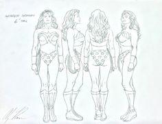 Alex Ross- Wonder Woman Model Sheet, in SteveM's Alex Ross- Sketches Comic Art Gallery Room - 662800