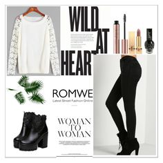 """""""ROMWE"""" by rejhannnaaa ❤ liked on Polyvore featuring Yves Saint Laurent"""