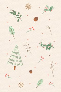 Christmas Elements Doodle Pattern Vector Premium Image By Rawpixel Com Happy New Year Holiday Iphone Wallpaper, Winter Wallpaper, Holiday Wallpaper, Christmas Phone Backgrounds, Christmas Pattern Background, Christmas Tree Pattern, Vintage Pattern Design, Xmax, Doodle Patterns