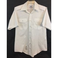 Men's White Military 521 Short Sleeved Shirt Size 16-1/2 Listing in the Shirts,Uniforms & Work Clothing,Clothes, Shoes, Accessories Category on eBid United States | 158704997