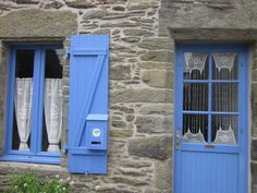 crochet lace window cover in Brittany