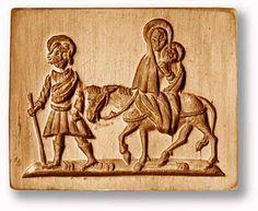 Springerle mold, Holy family fleeing to Egypt, www.springerle.com - Details zu Artikel 1129