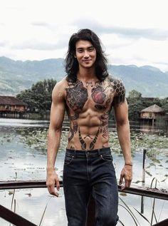 Gorgeous Men, Beautiful People, Asian Men Long Hair, Handsome Asian Men, Handsome Guys, Korean Boys Hot, Poses For Men, Fine Men, Pretty Boys