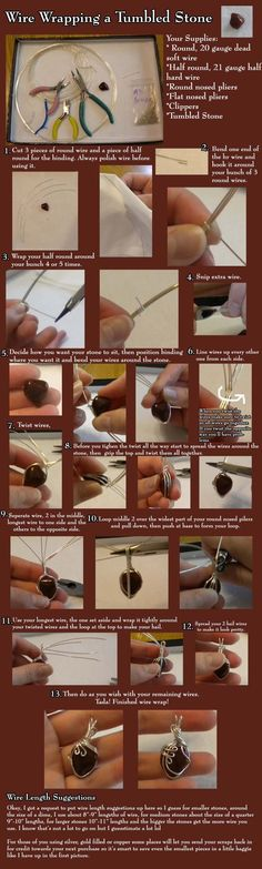 Wire Wrapped Stone PendantFree Diy Jewelry Projects | Learn how to make jewelry - beads.us