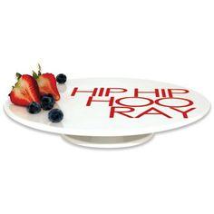 Salt Taste Footed Cake Plate - HIP HIP HOORAY