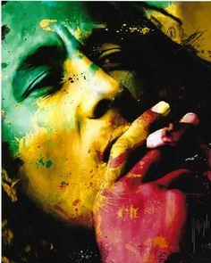 Bob Marley by Patrice Murciano, 1969 ~ Pop Art Bob Marley Kunst, Bob Marley Art, Bob Marley Quotes, Bob Marley Colors, Bob Marley Painting, Damian Marley, Murciano Art, Patrice Murciano, Mano Brown