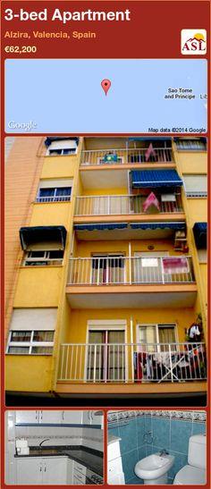 3-bed Apartment in Alzira, Valencia, Spain ►€62,200 #PropertyForSaleInSpain