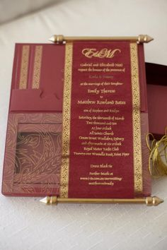 The stunning Princess Invitation - a 3D box containing a scroll and pocket for your event details.