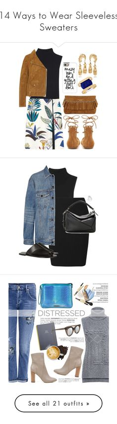 """""""14 Ways to Wear Sleeveless Sweaters"""" by polyvore-editorial ❤ liked on Polyvore featuring waystowear, sleevelesssweaters, T By Alexander Wang, Madewell, Casetify, Tory Burch, Isabel Marant, Burberry, INC International Concepts and Alexander Wang"""