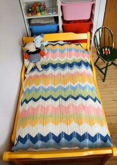 I know this is supposed to be a baby blanket. But wouldn't this make a great throw in more sophisticated colors?