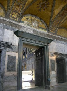Imperial Gate   Hagia Sophia. Only the emperor was allowed to use this entrance to the church. All others had to use the smaller entrances to the left and right.
