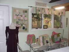 Here is our craft corner. How many kitty cats can you find in the photo?