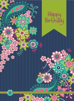 Happy birthday Floral ✿ (Sian Roberts) Happy Birthday Qoutes, Birthday Greetings For Facebook, Happy Birthday Floral, Birthday Posts, Happy Birthday Pictures, Birthday Greeting Cards, Birthday Fun, Birthday Memes, Today Is Your Birthday
