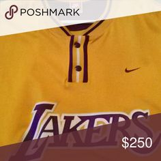 LOS ANGELES LAKER'S WARMUP TOP LOS ANGELES LAKER'S WARMUP TOP Nike Shirts Sweatshirts & Hoodies