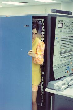 Inside a IBM computer (1960s).