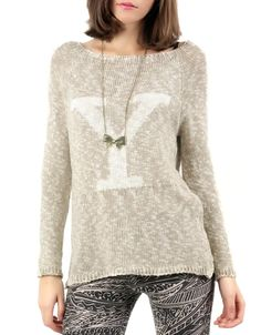 #Jersey bimateria estampado 'Y'. Varios colores, 12,99€ en www.doubleagent.es #fashion #trends #ropa