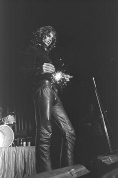 Jim Morrisonon stage at Arizon Veterans Memorial Coliseum, 1968.
