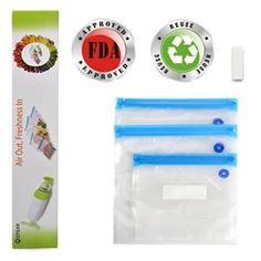 จัดเลย  GPL/ MOYEAH Vacuum Zipper Bags ,Food Storage Saver BPA Free,Compatible to Foodsaver Sous Vide, Refill Bags with Unique multilayer construction, 10 per Pack/ship from USA - intl  ราคาเพียง  1,862 บาท  เท่านั้น คุณสมบัติ มีดังนี้ SAFTY - FDA Approved & BPA Free, Simmer and Microwave Safe,Great for Sous Vide Cooking HEAVY DUTY - Effectively block oxygen and moisture. Reusable & Resealable. Strong and multi-ply material. Specially designed channels block oxygen and moisture tomaximize…