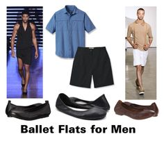 """Ballet Flats"" by brennk ❤ liked on Polyvore featuring Telfar, Børn, men's fashion and menswear"