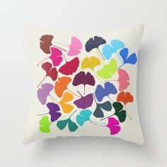 Ginkgo Multicolor by Garima Dhawan love the multi rainbow ginkgo leaves!  click thru to shop!
