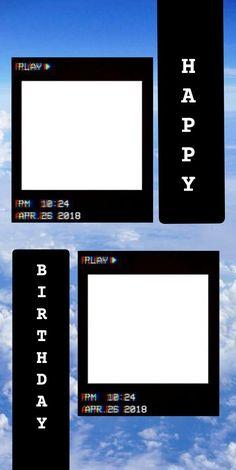 Happy Birthday Template, Happy Birthday Frame, Happy Birthday Posters, Happy Birthday Wallpaper, Birthday Posts, Creative Instagram Photo Ideas, Instagram Photo Editing, Instagram Story Ideas, Instagram Quotes