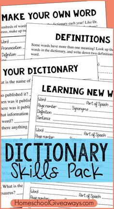Get your kids away from the computer and show them how to look up words with a hardback dictionary! :: www.thriftyhomeschoolers.com