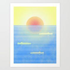 Mango Sky #art #sunset #ocean