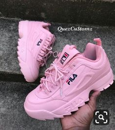 fila shoe Discovered by terra. Find images and videos about pink, shoes and winter on We Heart It - the app to get lost in what you love. Pink Shoes, Girls Shoes, Baby Shoes, Cute Sneakers, Shoes Sneakers, Shoes Heels, Converse Shoes, Sneaker Heels, Trendy Shoes