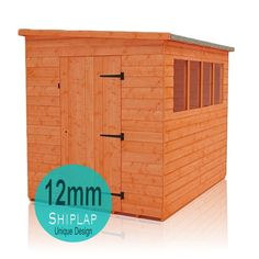 this fantastic shiplap lean to pent shed from tiger sheds is a perfect storage solution for placing next to your house or in alternative gardens