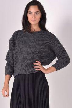 Kiki Knit Jumper in Charcoal Knitwear, Jumper, Charcoal, Turtle Neck, Valentines, Park, Knitting, Sweaters, Women