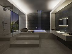 Atmosphere full of relaxation bathroom spa, master bathroom, modern Bathroom Spa, Modern Bathroom, Master Bathroom, Dream Bathrooms, Amazing Bathrooms, Plans Loft, Bathroom Design Luxury, Future House, Architecture Design